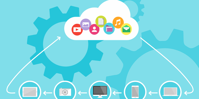 Graphic cloud and gears