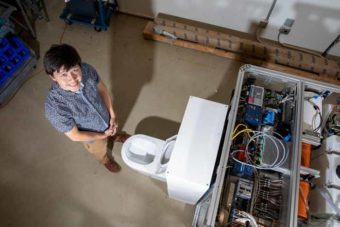 Reinventing the toilet