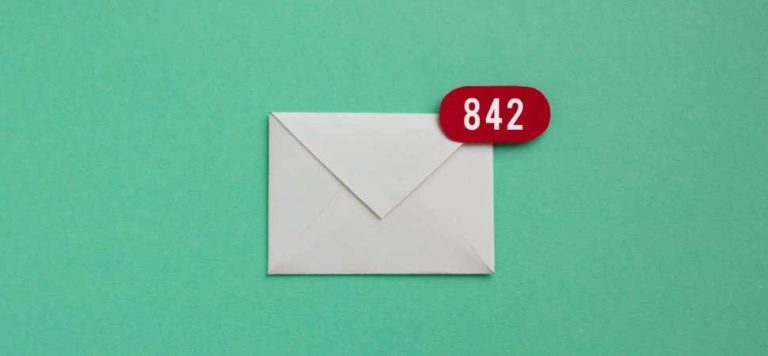 842 emails