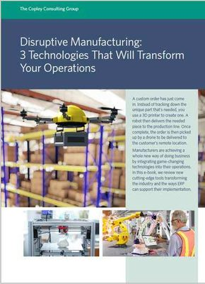 Disruptive manufacturing