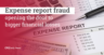 Expense report fraud