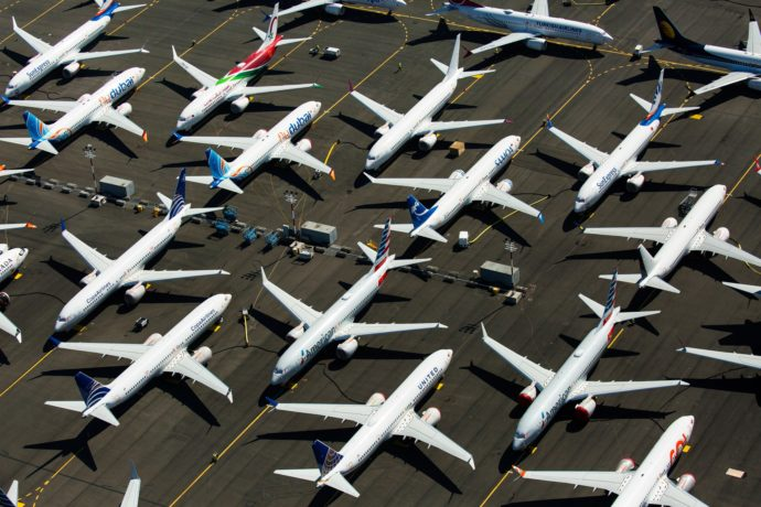Grounded boeing 737s