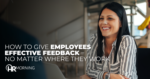 How To Give Employees Effective Feedback