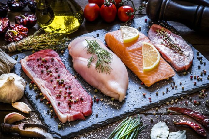 Meat poultry and fish
