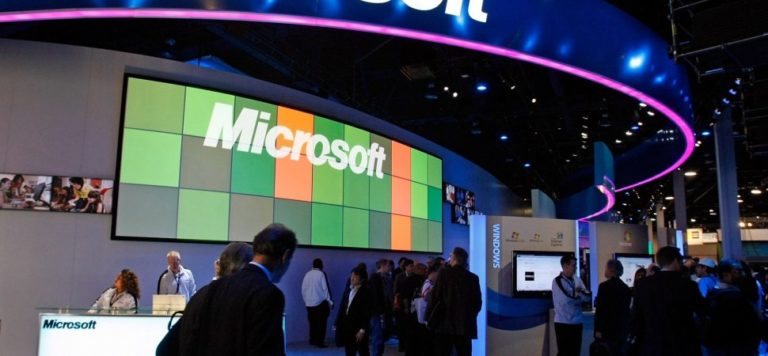 Microsoft show booth