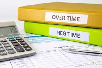 Overtime reg time