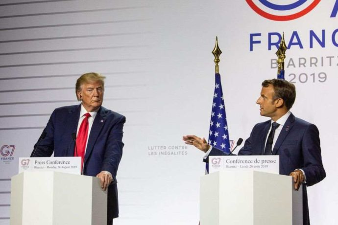 President-donald-trump-and-french-president-emmanuel-macron