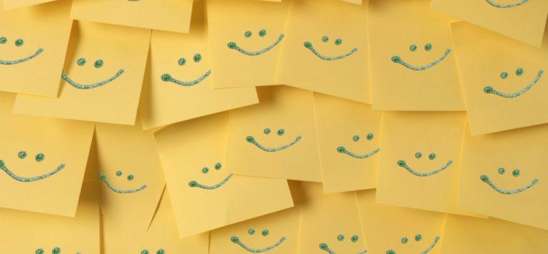 Smiley face notes