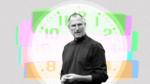 Steve Jobs In Front of Clock