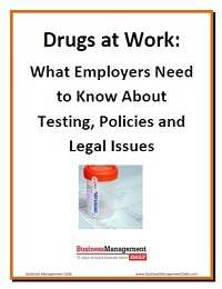 Drugs At Work