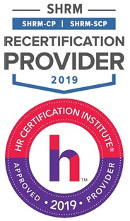 SHRM seal of Certification and HRCI Seal of Approval