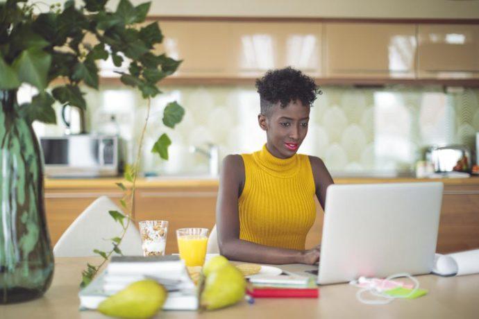 Woman at laptop 3