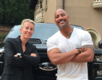 Anita Elberse and Dwayne Johnson