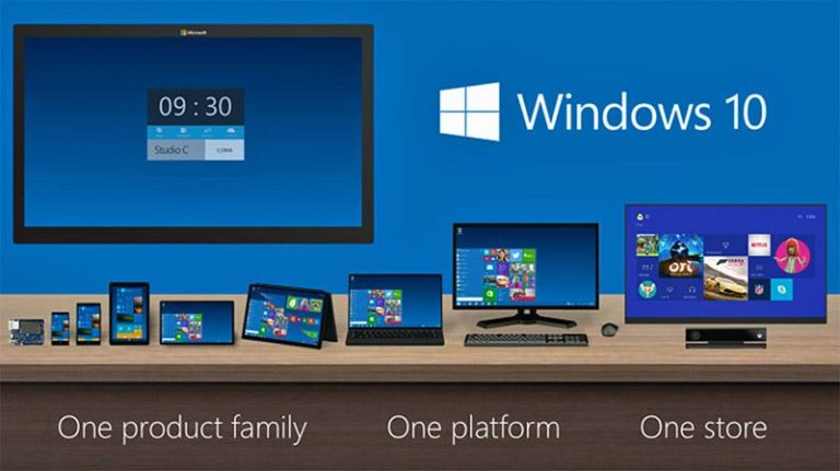 Microsoft windows 10 one platform