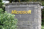 Microsoft Sign Closeup