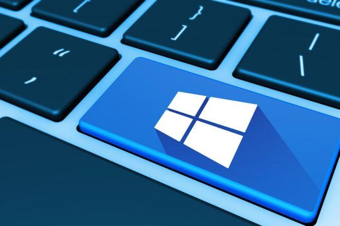 Windows 10 laptop keyboard